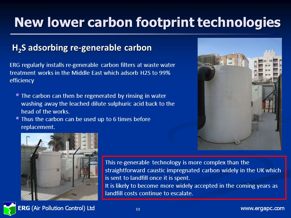 New lower carbon footprint technologies