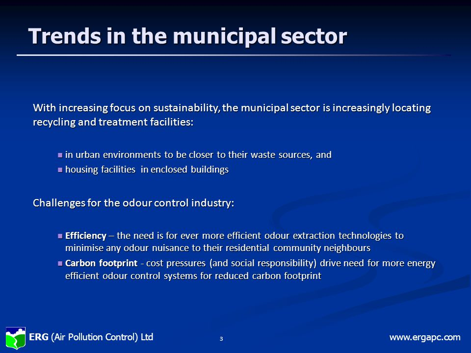 Trends in the municipal sector