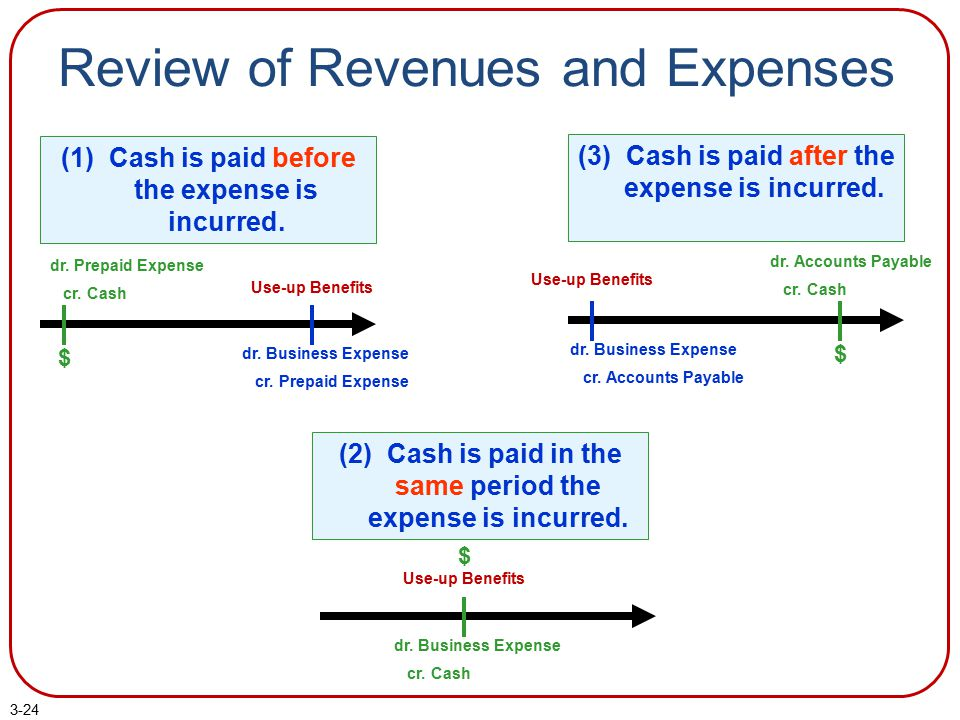 Review of Revenues and Expenses