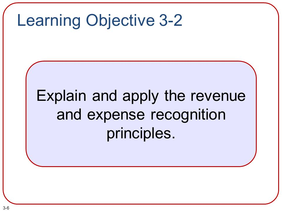 Explain and apply the revenue and expense recognition principles.