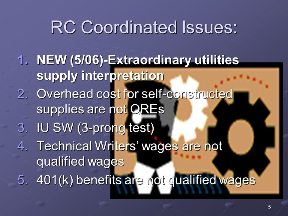 RC Coordinated Issues: