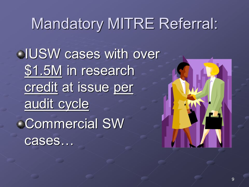Mandatory MITRE Referral: