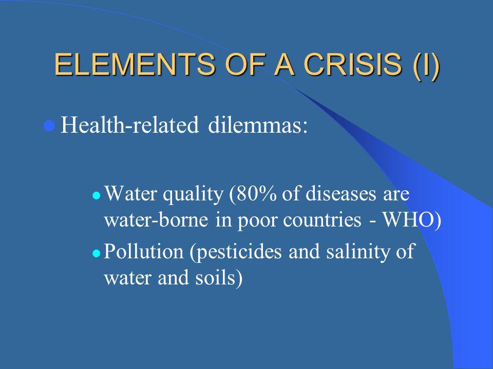 ELEMENTS OF A CRISIS (I)