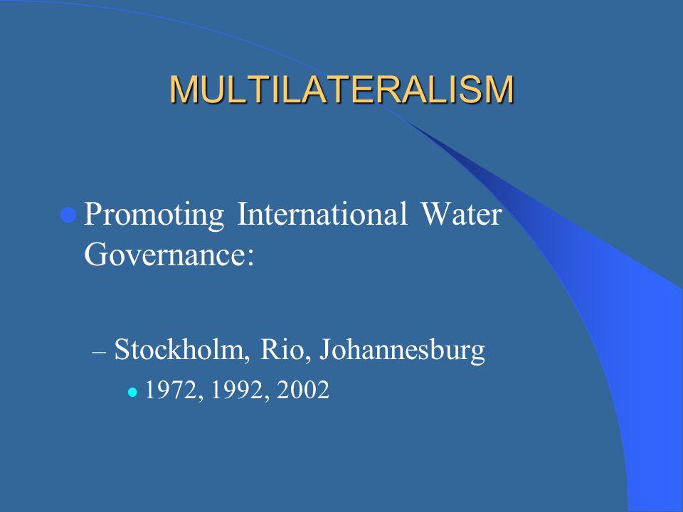 MULTILATERALISM Promoting International Water Governance: