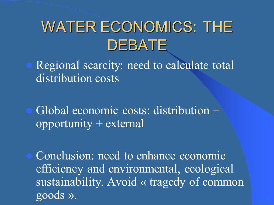 WATER ECONOMICS: THE DEBATE