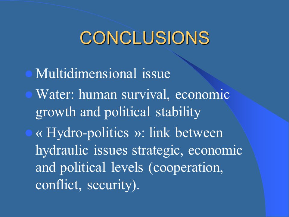 CONCLUSIONS Multidimensional issue