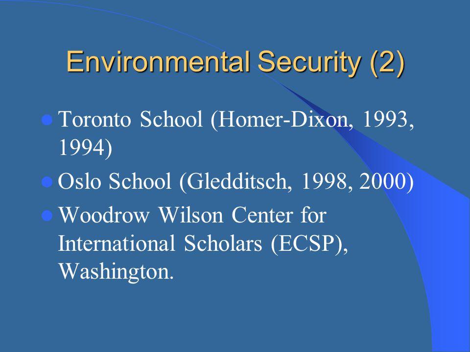 Environmental Security (2)