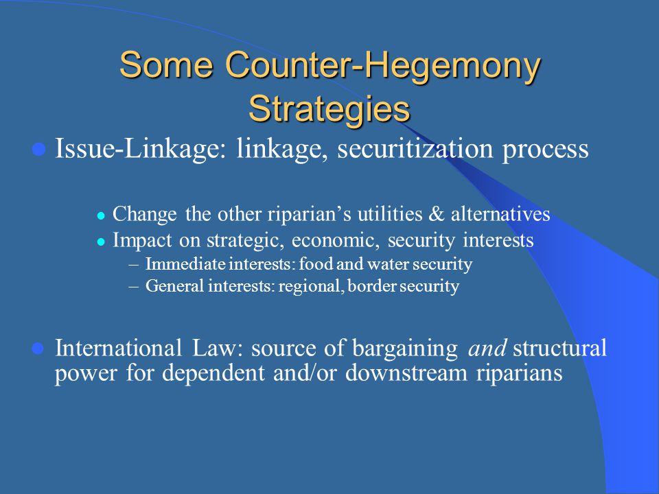 Some Counter-Hegemony Strategies