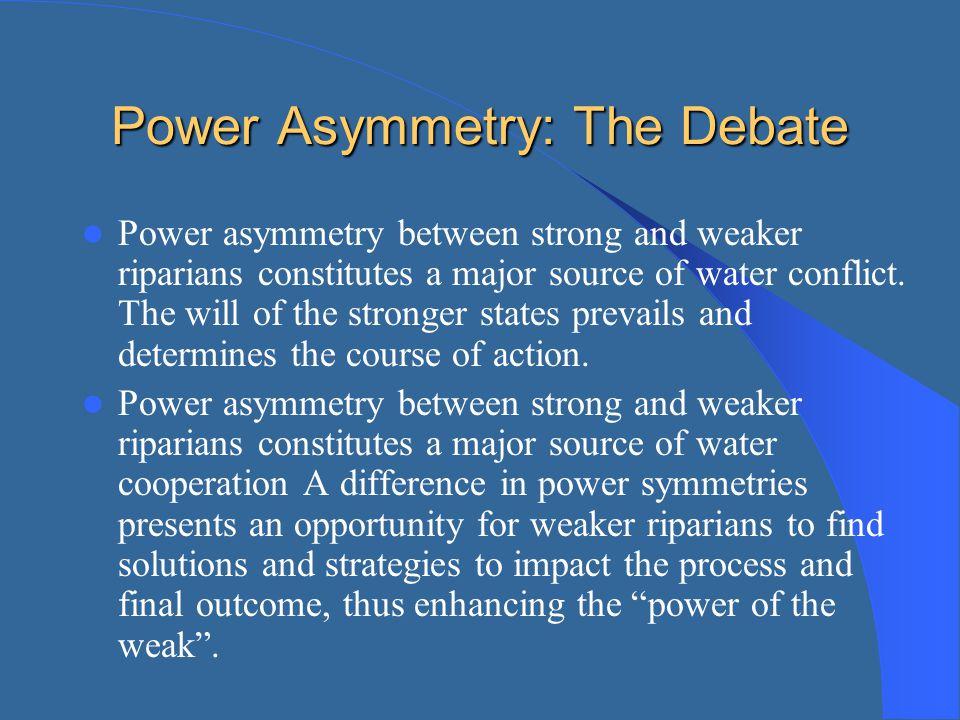 Power Asymmetry: The Debate
