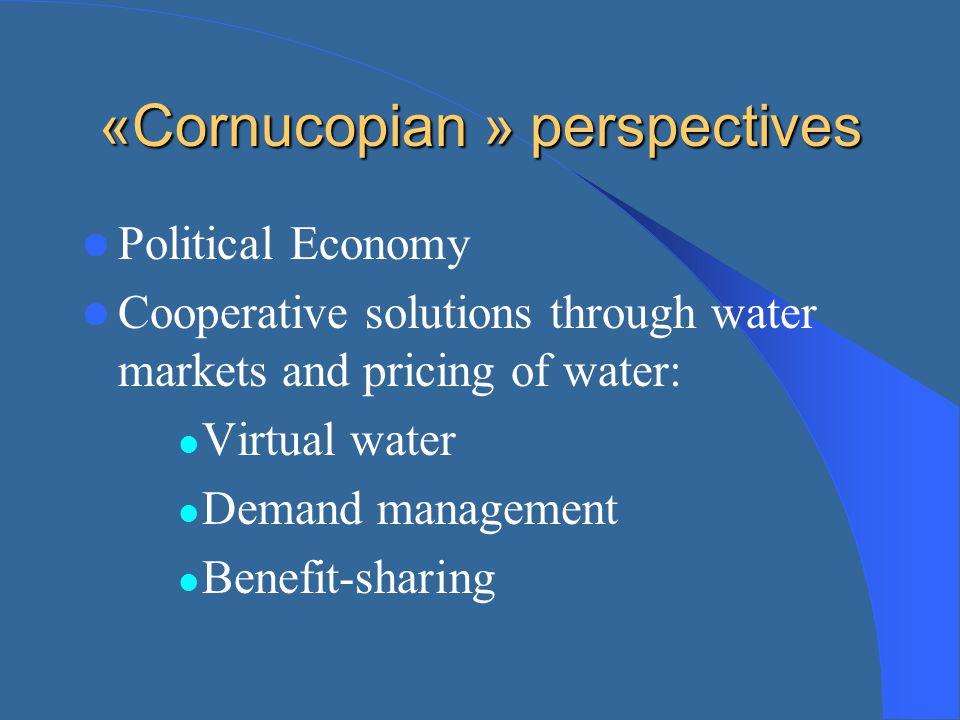 «Cornucopian » perspectives