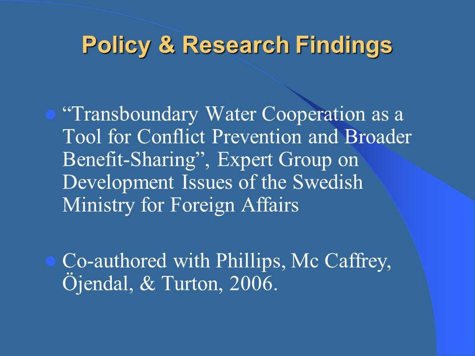 Policy & Research Findings