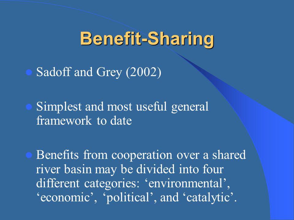 Benefit-Sharing Sadoff and Grey (2002)