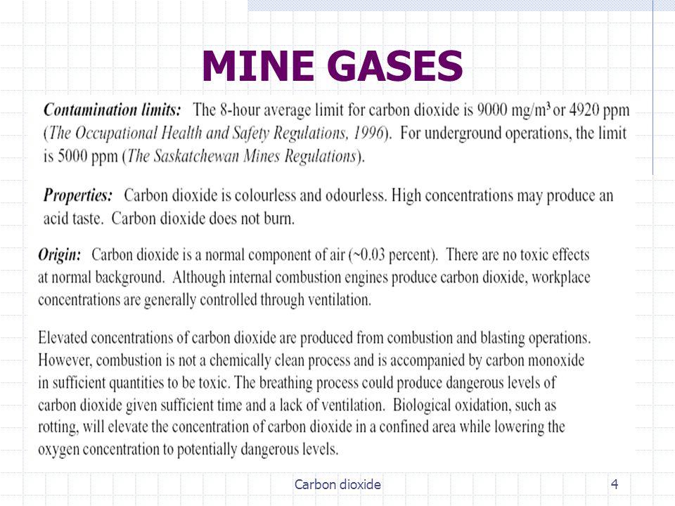 MINE GASES Carbon dioxide