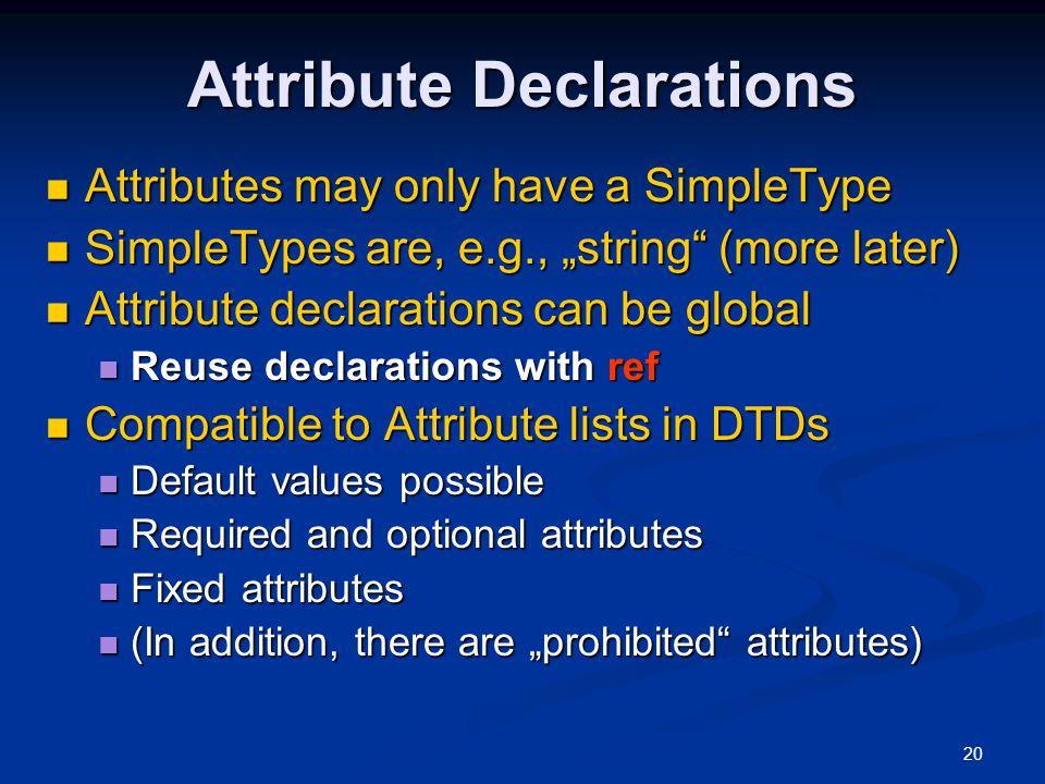 Attribute Declarations