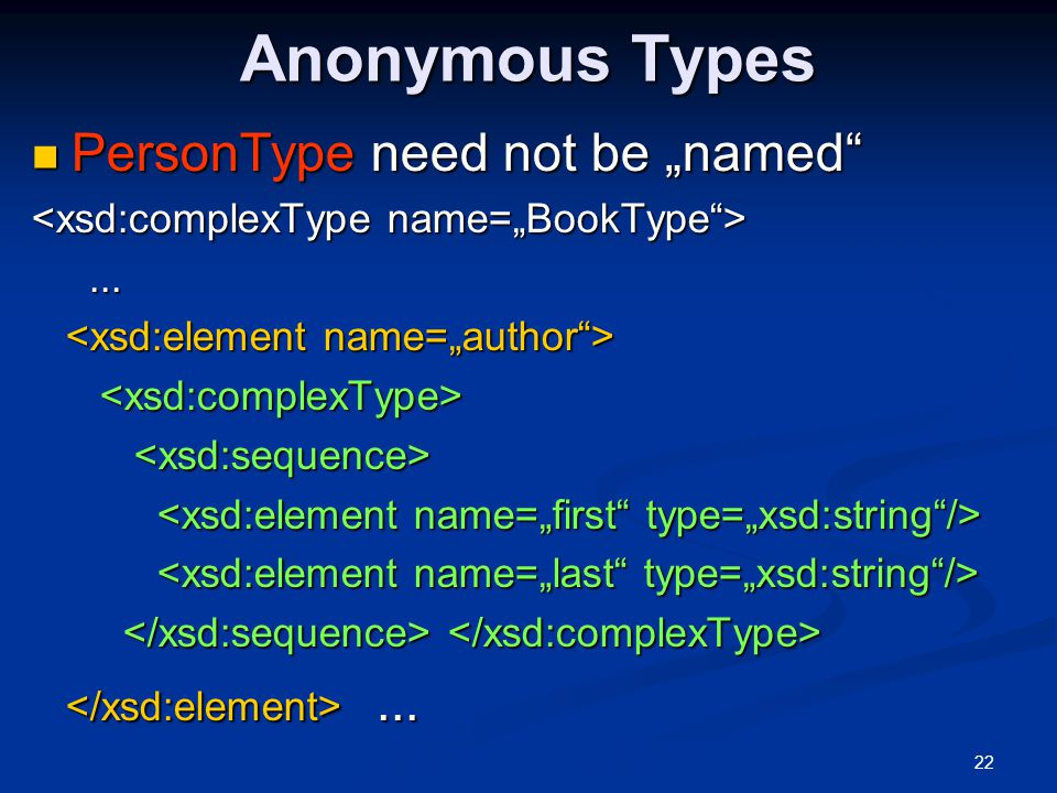 """Anonymous Types PersonType need not be """"named"""