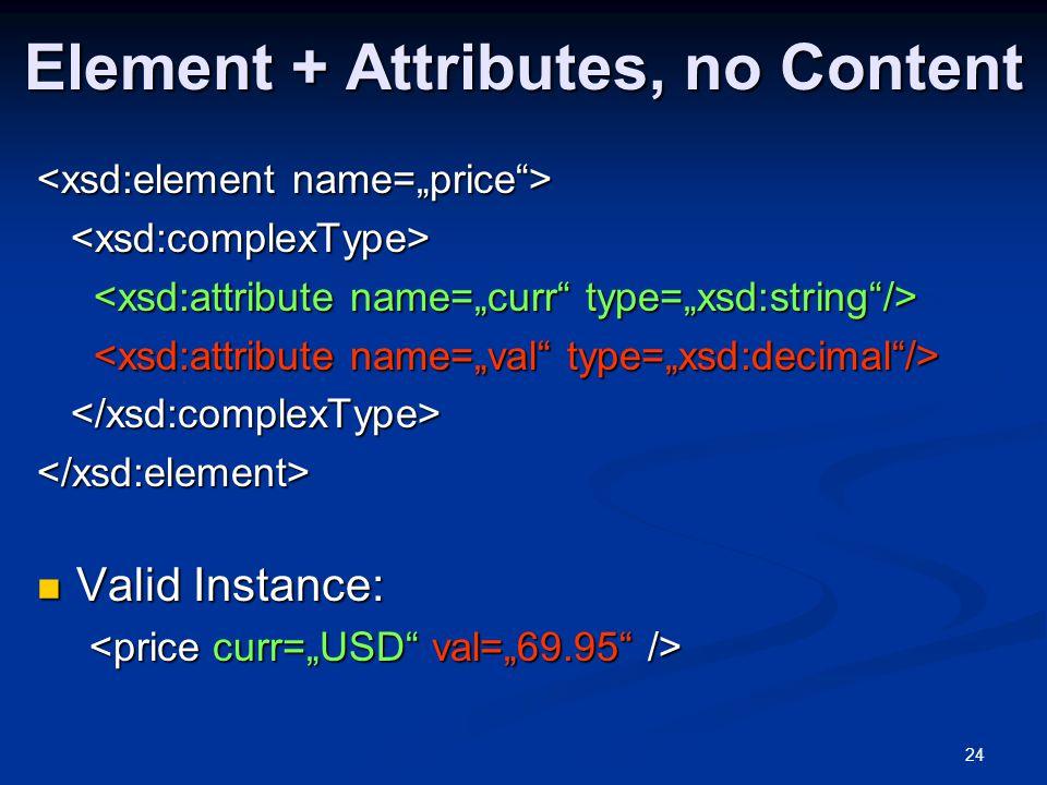 Element + Attributes, no Content