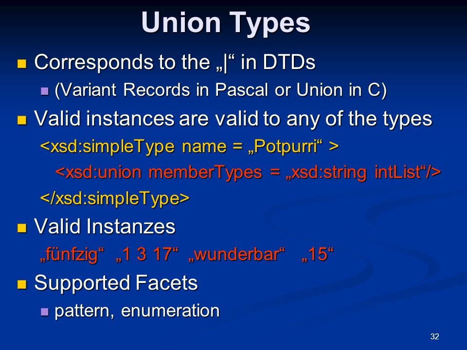 """Union Types Corresponds to the """"