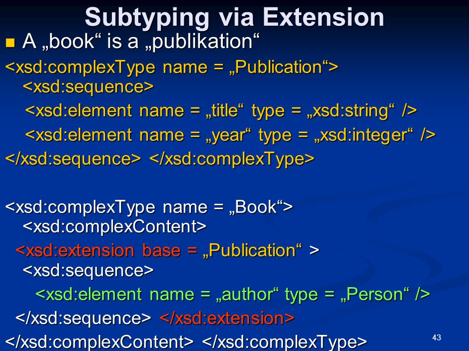 Subtyping via Extension