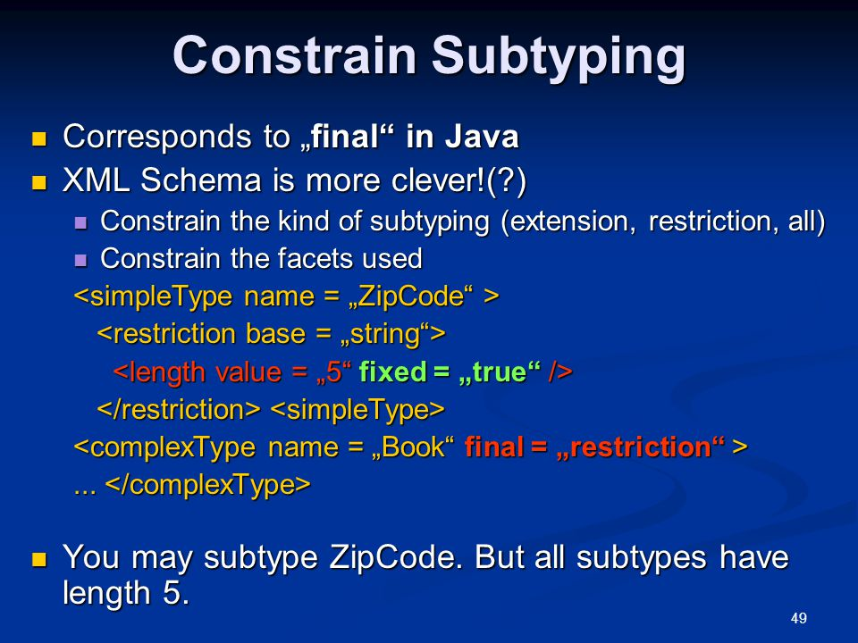 """Constrain Subtyping Corresponds to """"final in Java"""