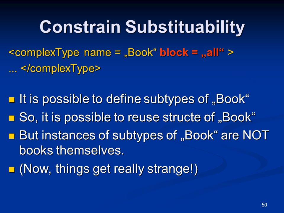 Constrain Substituability