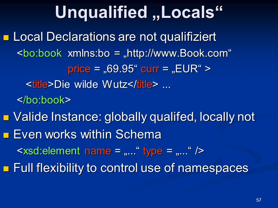 "Unqualified ""Locals Local Declarations are not qualifiziert"