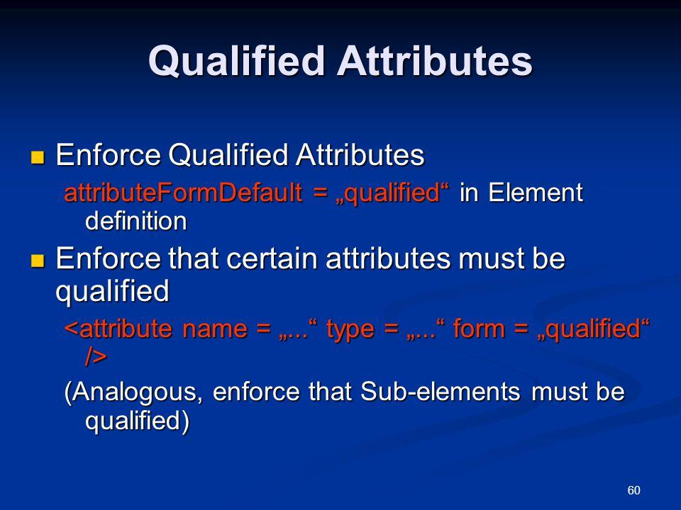 Qualified Attributes Enforce Qualified Attributes
