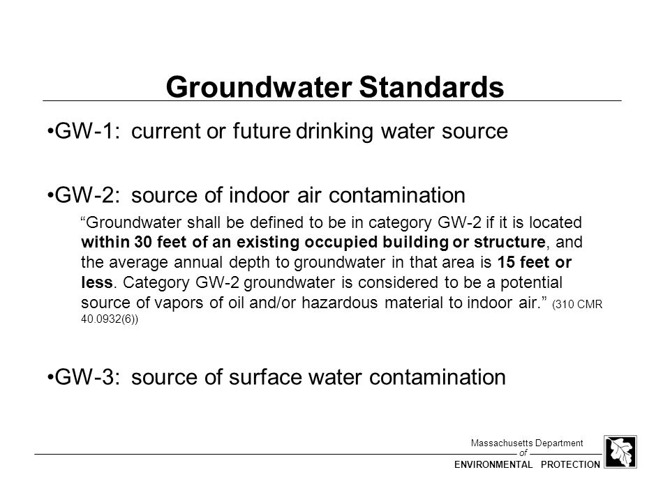 Groundwater Standards