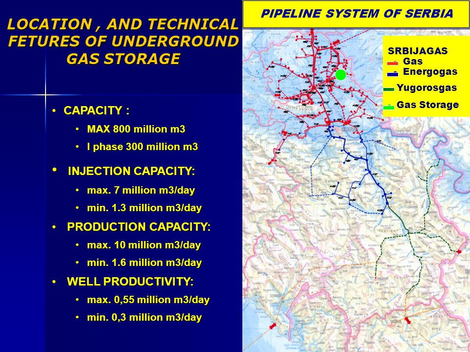 LOCATION , AND TECHNICAL FETURES OF UNDERGROUND GAS STORAGE