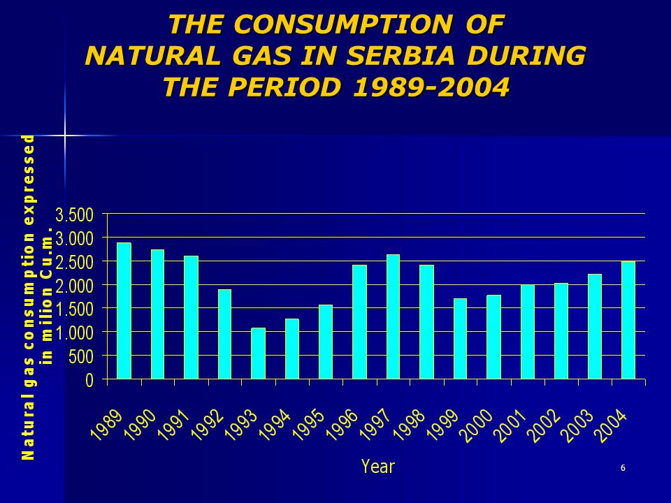 THE CONSUMPTION OF NATURAL GAS IN SERBIA DURING THE PERIOD 1989-2004