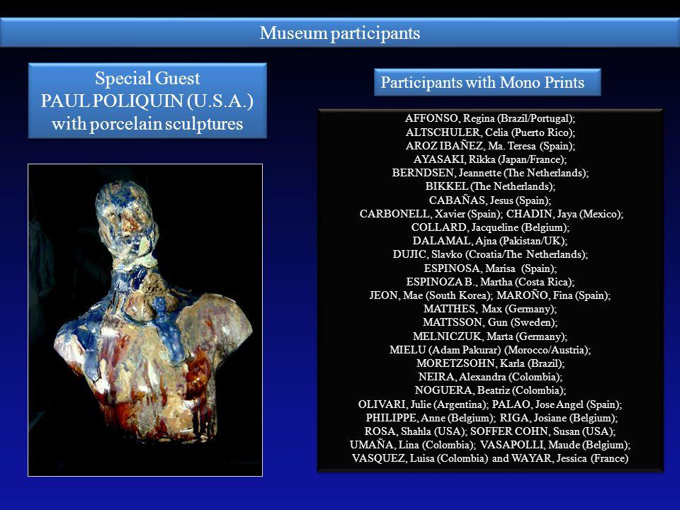 with porcelain sculptures