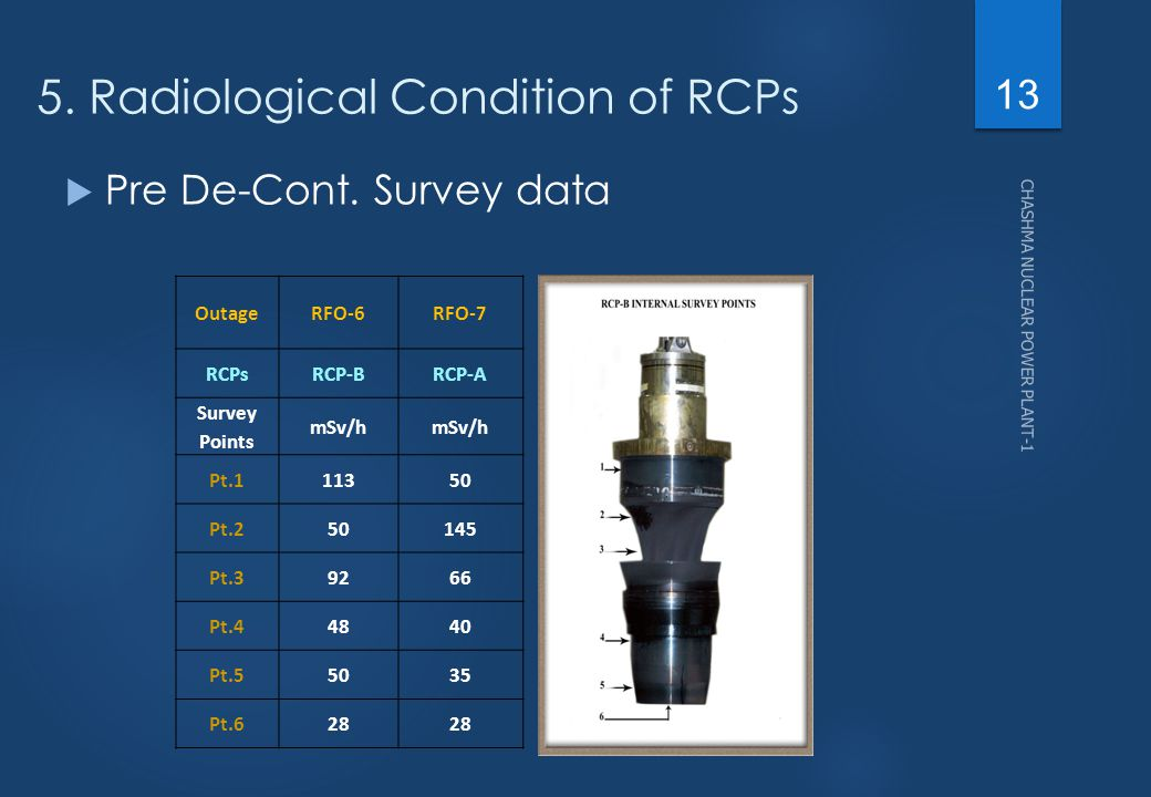 5. Radiological Condition of RCPs