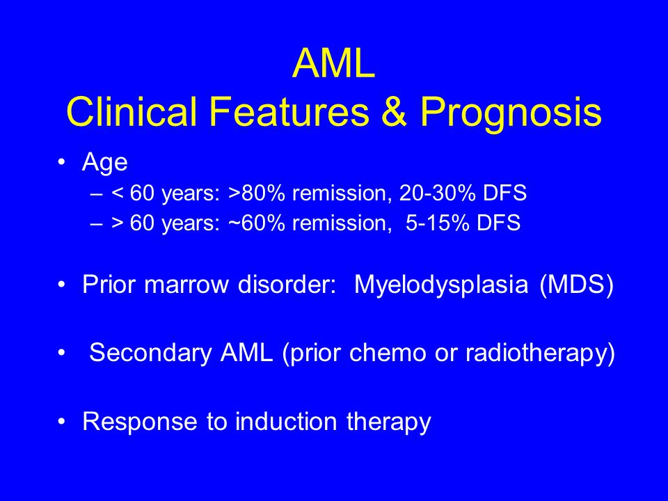 AML Clinical Features & Prognosis