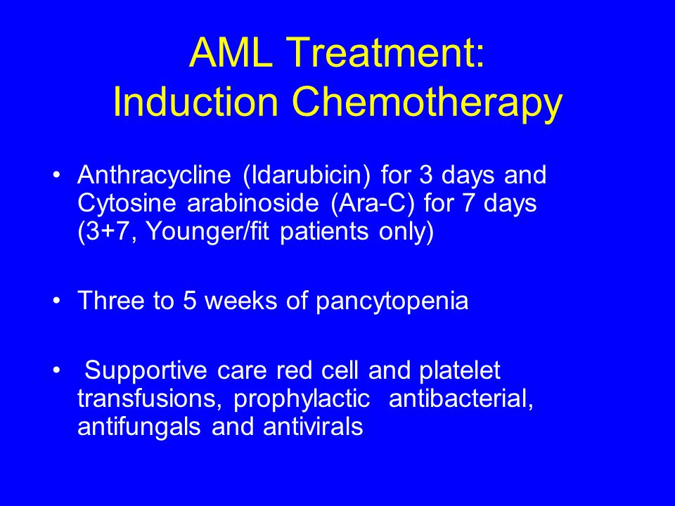 AML Treatment: Induction Chemotherapy