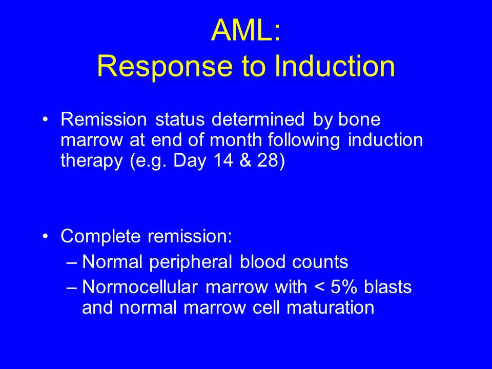 AML: Response to Induction