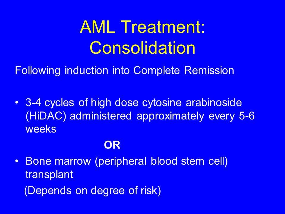 AML Treatment: Consolidation