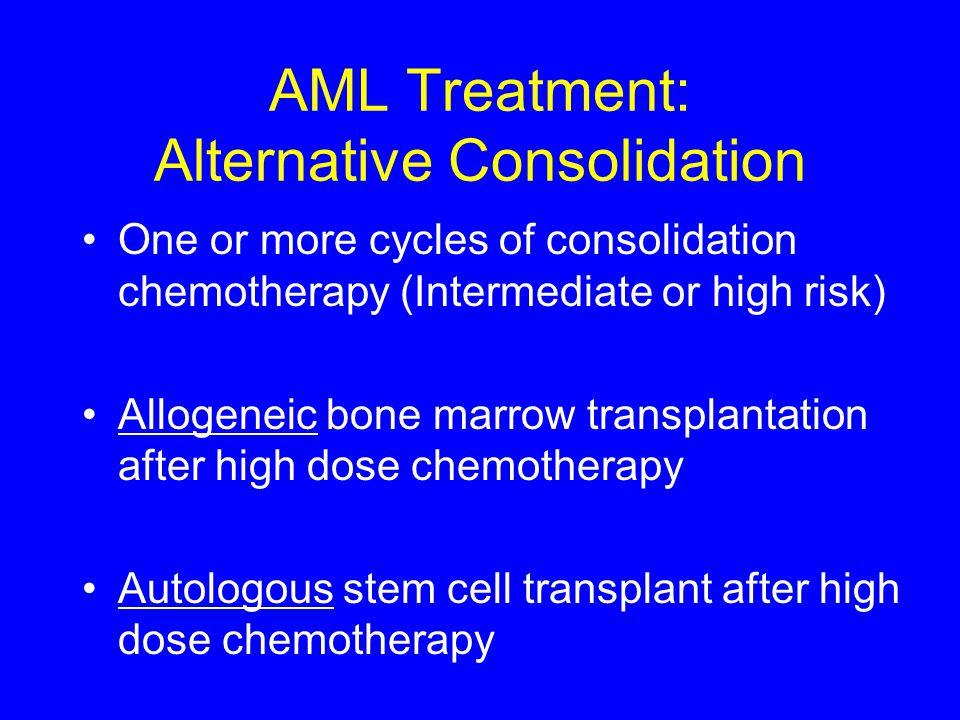 AML Treatment: Alternative Consolidation