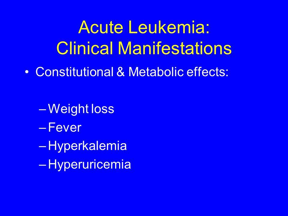 Acute Leukemia: Clinical Manifestations