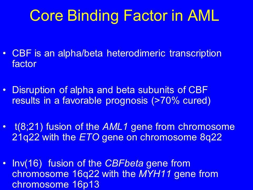 Core Binding Factor in AML