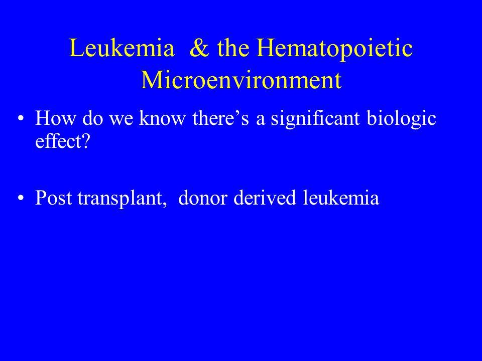 Leukemia & the Hematopoietic Microenvironment