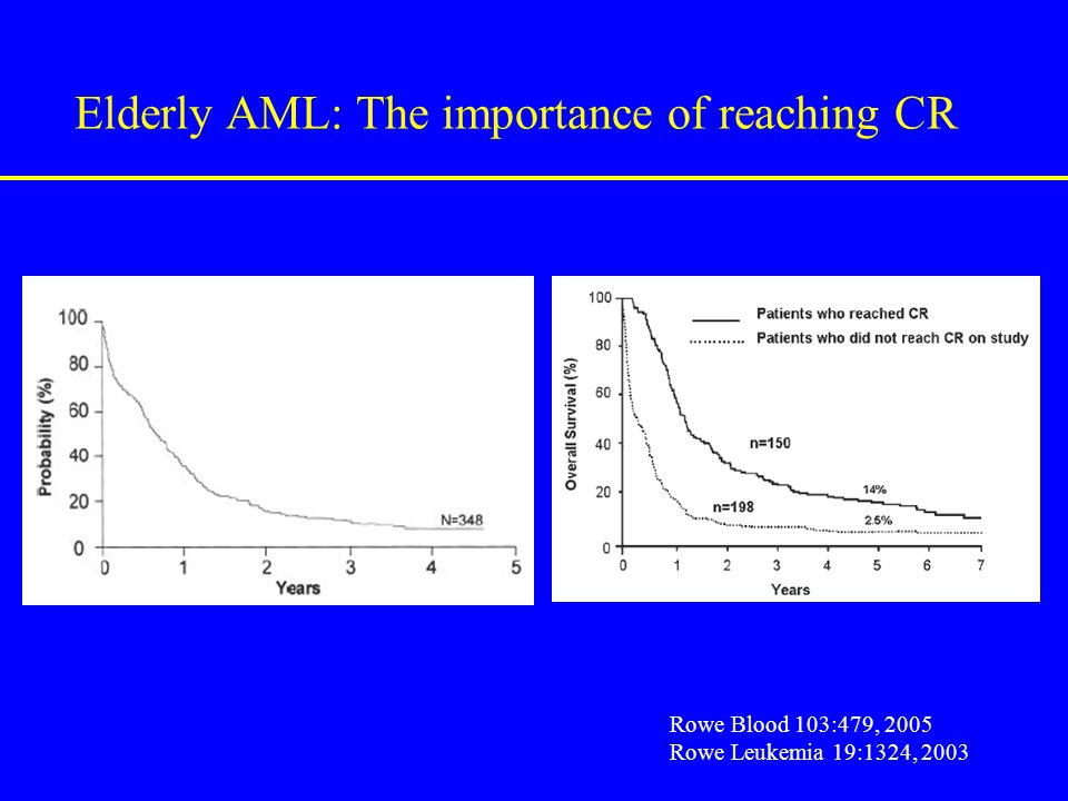 Elderly AML: The importance of reaching CR
