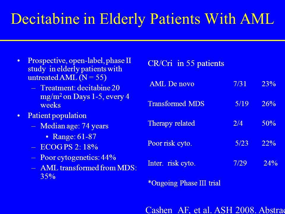 Decitabine in Elderly Patients With AML