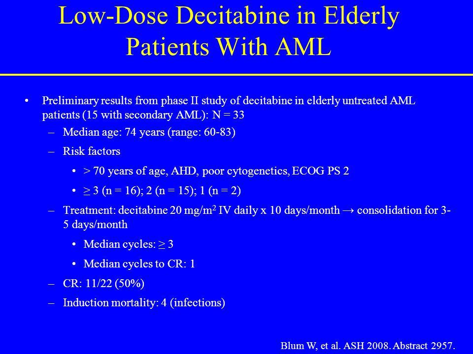 Low-Dose Decitabine in Elderly Patients With AML