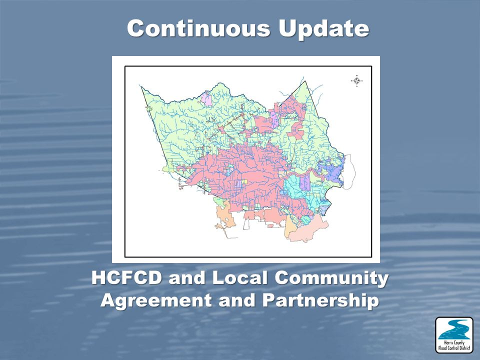 HCFCD and Local Community Agreement and Partnership