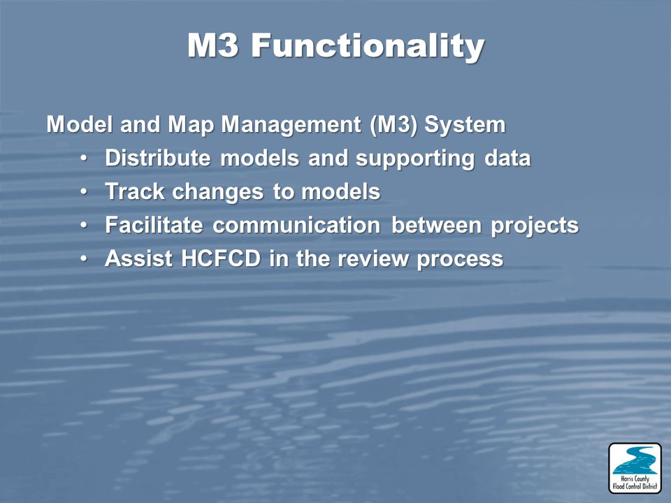 M3 Functionality Model and Map Management (M3) System