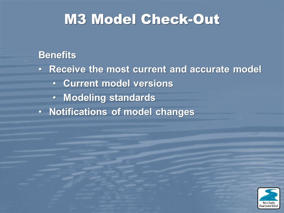 M3 Model Check-Out Benefits