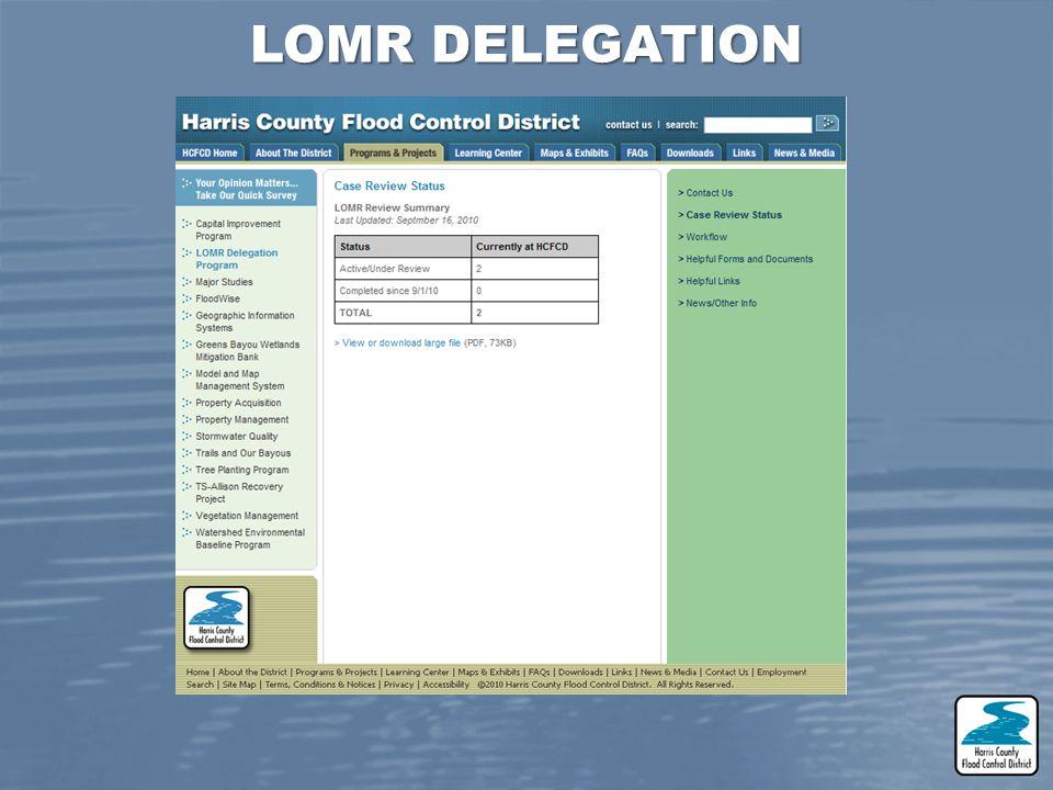 LOMR DELEGATION