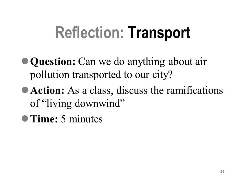 Reflection: Transport