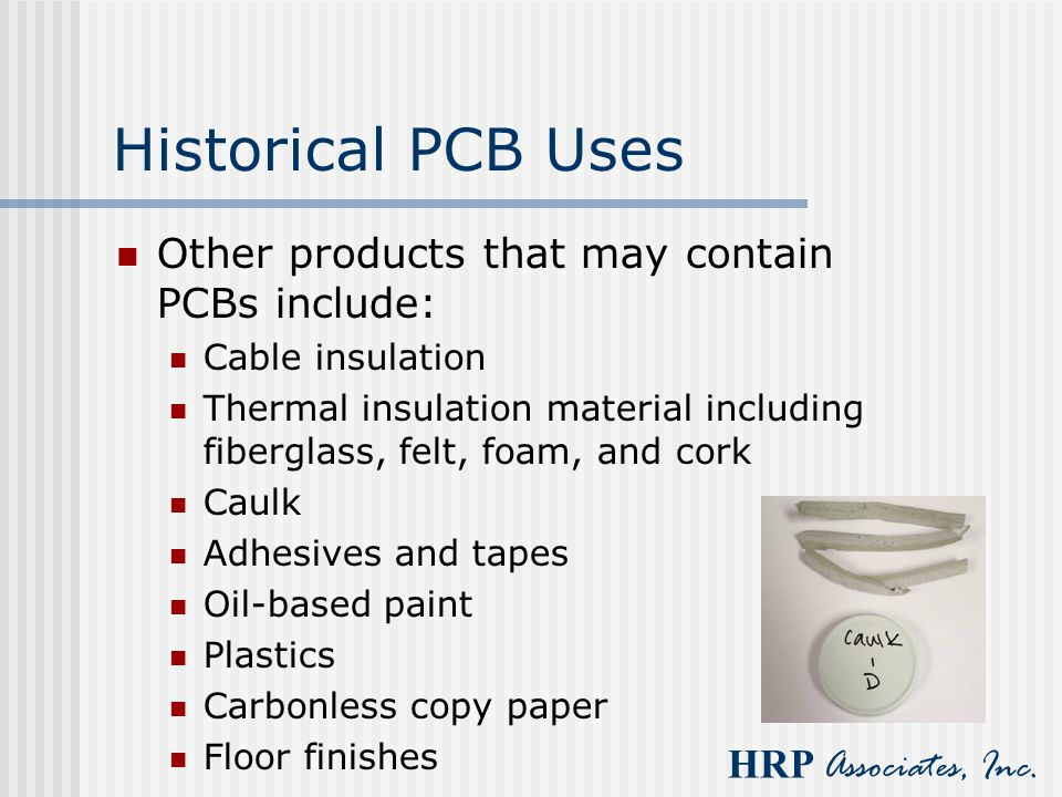 Historical PCB Uses Other products that may contain PCBs include: