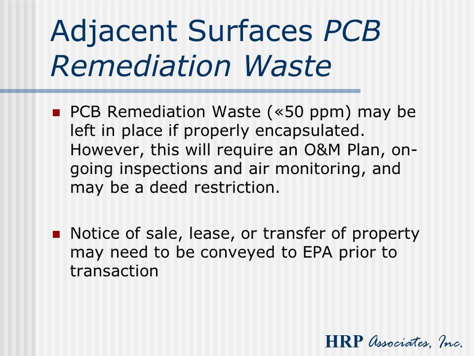 Adjacent Surfaces PCB Remediation Waste