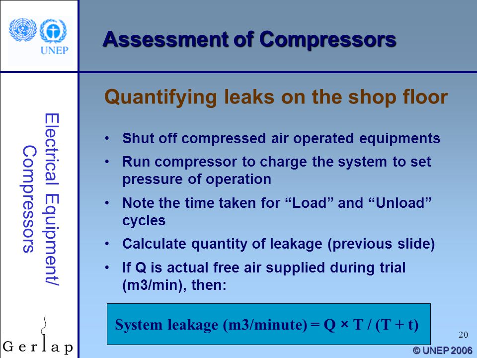 Assessment of Compressors